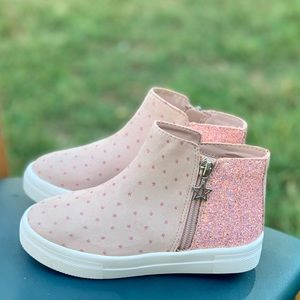 Wonder Nation Polka-Dot Toddler Girls Sneaker New